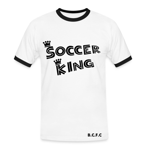 City Soccer King - Men's Ringer Shirt