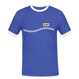 Rheinkilometer 688 - Männer Kontrast-T-Shirt