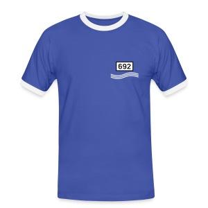 Rheinkilometer 692 - Männer Kontrast-T-Shirt