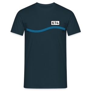 Rheinkilometer 674 - Männer T-Shirt
