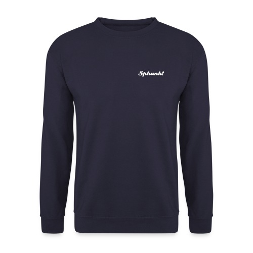 'Sphunk!' on a Cool as Phuck Navy Sweatshirt - Men's Sweatshirt