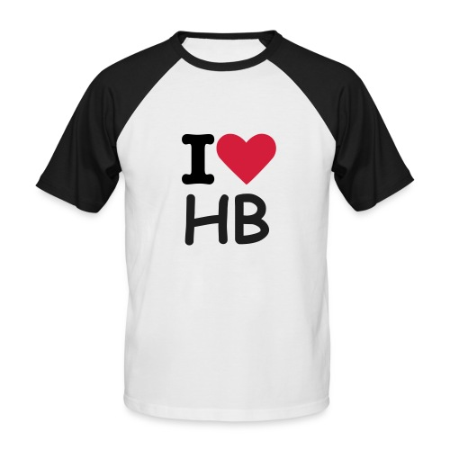 I Love HB - T-shirt baseball manches courtes Homme