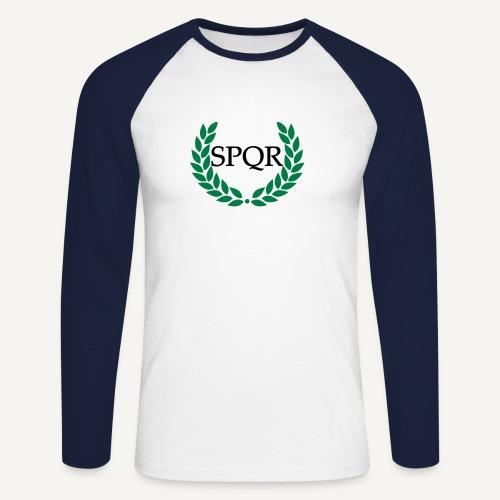 SPQR - Koszulka męska bejsbolowa z długim rękawem