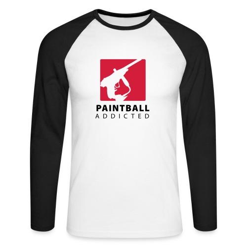 paintball addicted - Männer Baseballshirt langarm