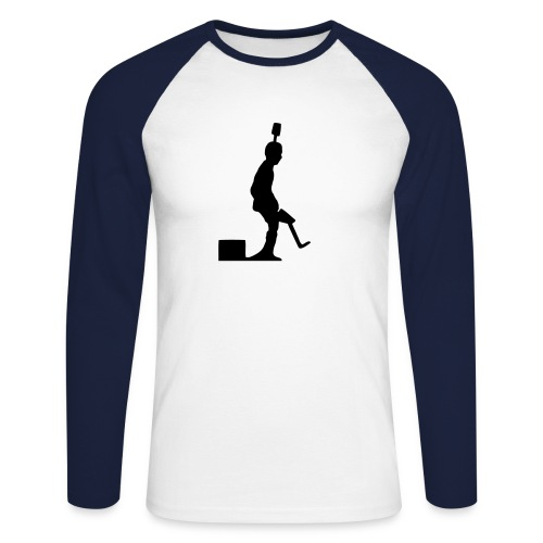 Pro Kicker Langarm (w/b) - Männer Baseballshirt langarm