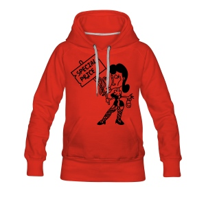 Special - black/red kapu girlie - Frauen Premium Hoodie