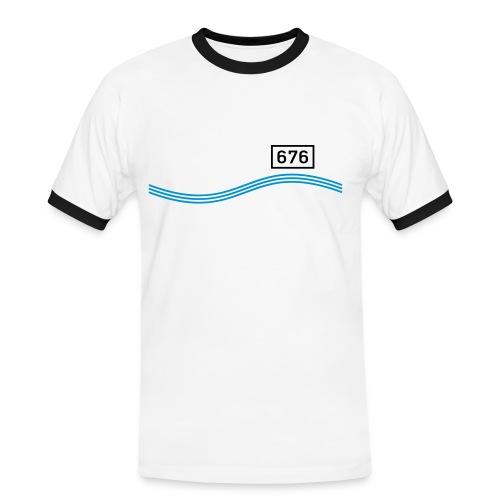 Rheinkilometer 676 - Männer Kontrast-T-Shirt