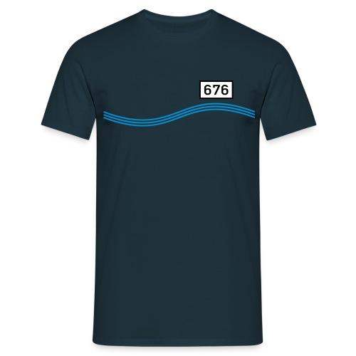 Rheinkilometer 676 - Männer T-Shirt