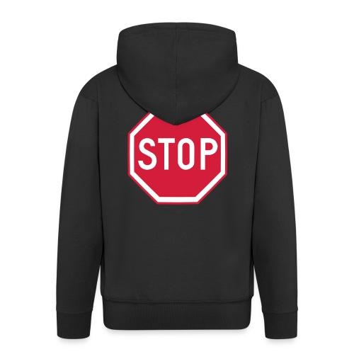 Stop vk-huppari - Miesten premium vetoketjullinen huppari