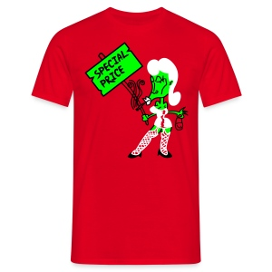 Whore 3c - green/red shirt - Männer T-Shirt
