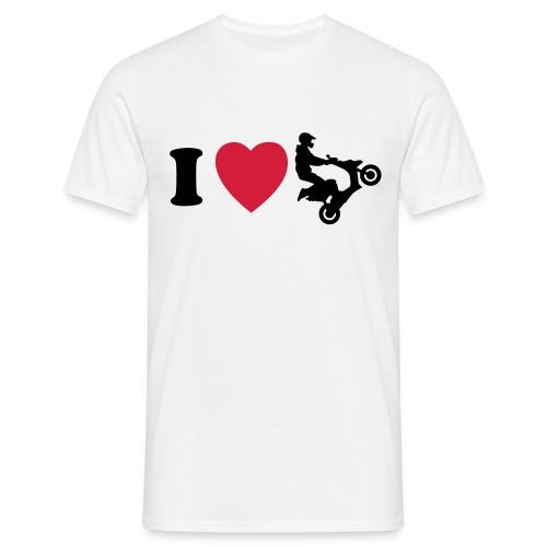 I heart scooter - Miesten t-paita