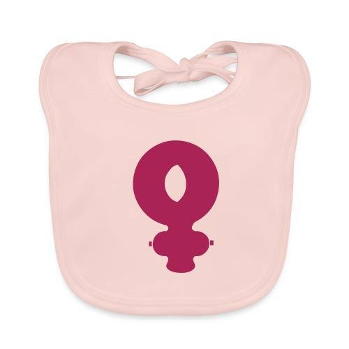 Girl symbol - Baby Organic Bib