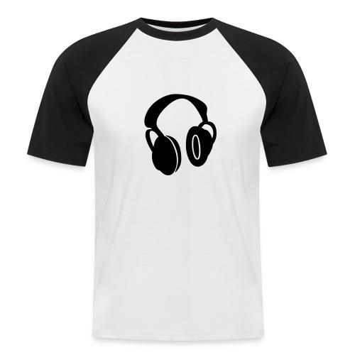 Music vibration - Kortermet baseball skjorte for menn