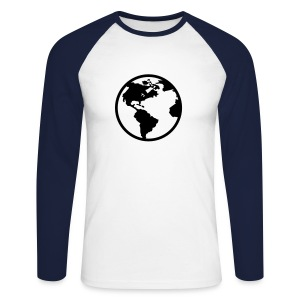 earth - T-shirt baseball manches longues Homme
