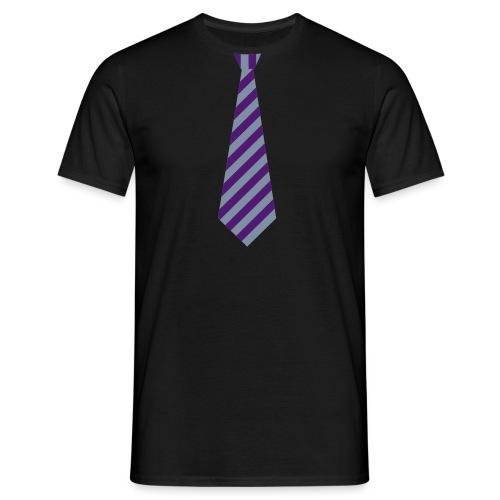 skjorte med fake slips - T-skjorte for menn