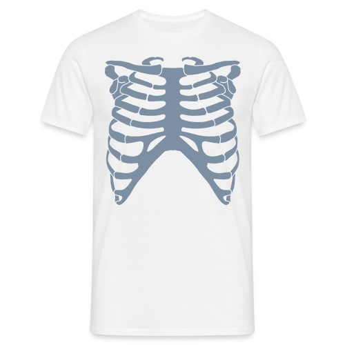 WHITE/GREY RIP CAGE - Men's T-Shirt