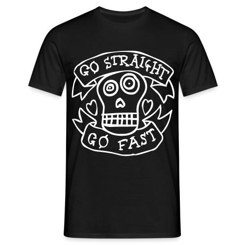 Go Straight Go Fast!! - Mannen T-shirt