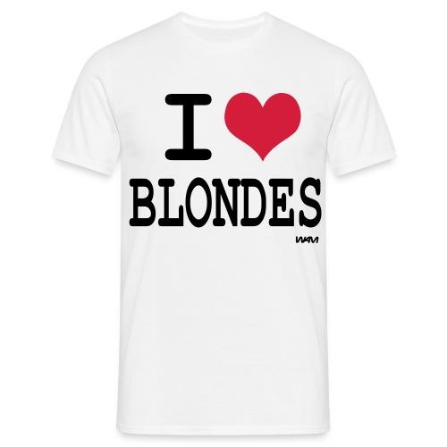I love Blondes - T-shirt Homme