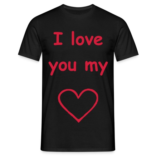 T-shirt I love you my heart - T-shirt Homme