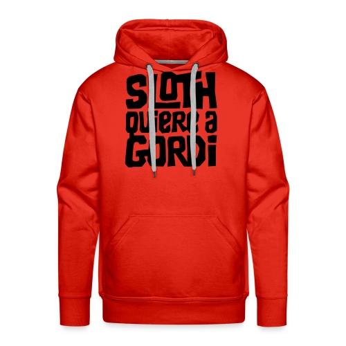 Sloth quiere a Gordi - Sudadera con capucha premium para hombre