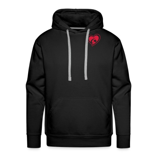 Men's Red Heart Hooded Sweatshirt - Men's Premium Hoodie