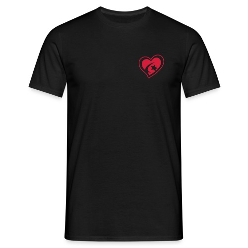 Men's Red Heart T-Shirt - Men's T-Shirt