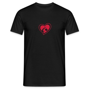 Men's Centred Red Heart T-Shirt - Men's T-Shirt