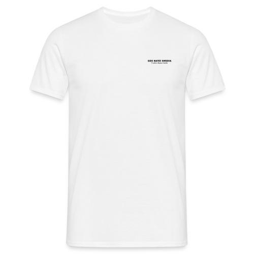 God hates Sweden logo on chest - T-shirt herr