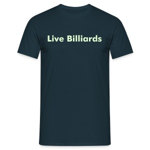 Live Billiards (Glow in Dark) - Men's T-Shirt
