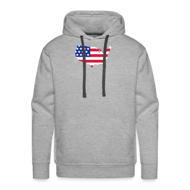 Blended grey Stars and Stripes of USA, United States of America  Jumpers