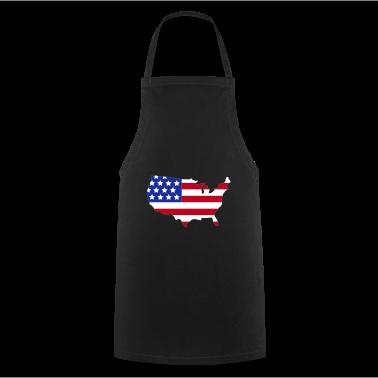 Zwart Stars and Stripes of USA, United States of America  Kookschorten