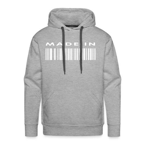 By Love - Mens Grey Barcode Hoodie - Men's Premium Hoodie