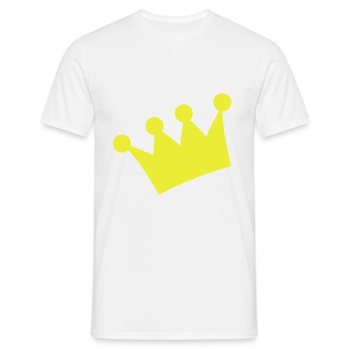 By Love - Mens Wht/Ylw Tee - Men's T-Shirt