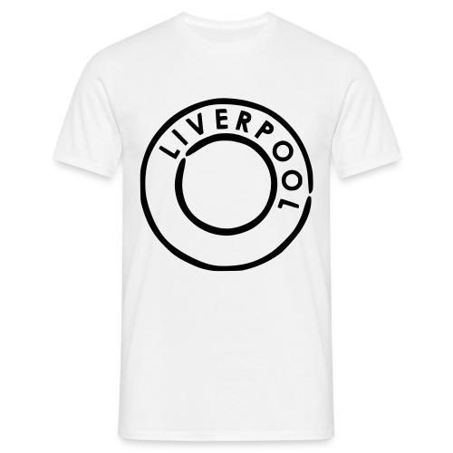 By Love - Mens Wht/Blk Liverpool Tee - Men's T-Shirt