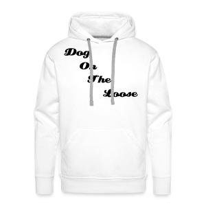 Men's Hooded White & Black D.O.T.L Sweatshirt - Men's Premium Hoodie