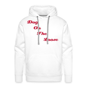 Men's Hooded White & Red D.O.T.L Sweatshirt - Men's Premium Hoodie