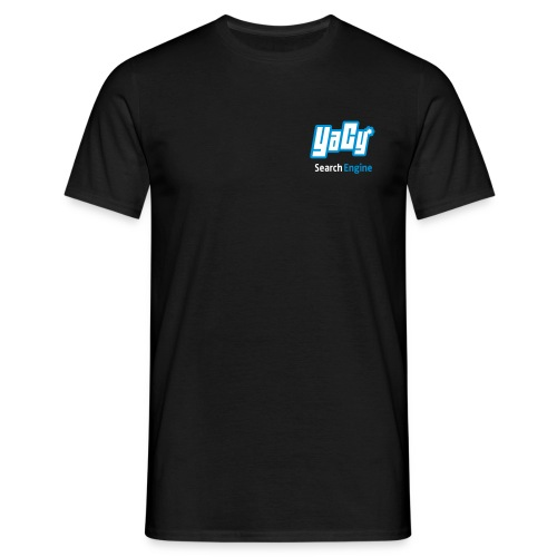 YaCy Logo T-Shirt Black - Men's T-Shirt