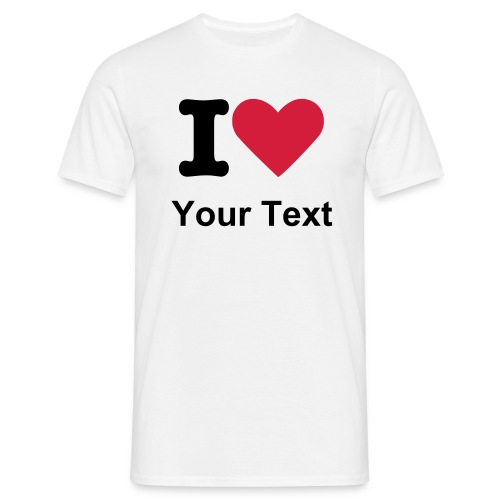 Mens T-Shirt I Love... - Men's T-Shirt