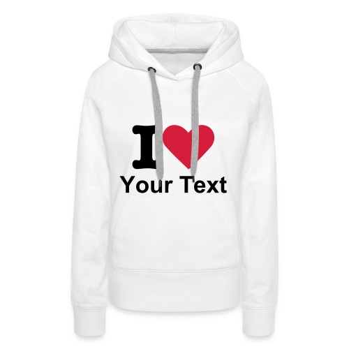 Women's Hooded Sweatshirt White - Women's Premium Hoodie