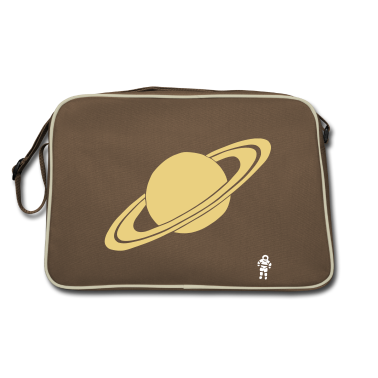 Marrone / sabbia Saturn - Planet - Astronaut - Space Borse