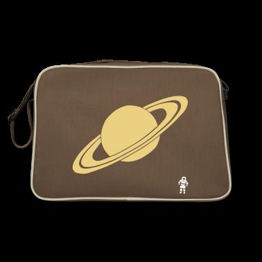 Marrone / sabbia Saturn - Planet - Astronaut - Space Borse