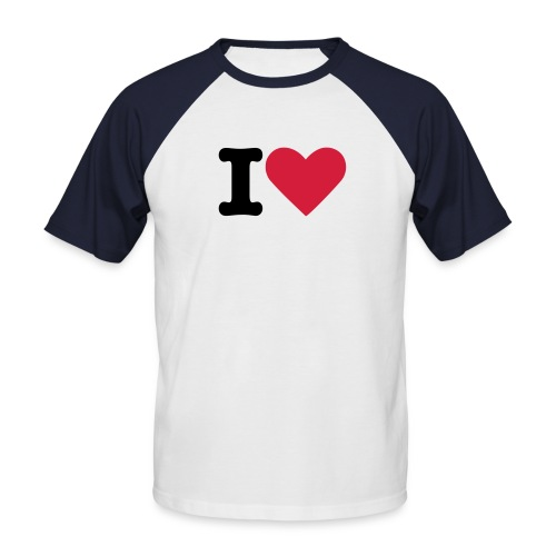 i-love-shirt - Männer Baseball-T-Shirt