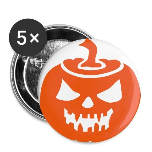 Buttons Helloween - Buttons groß 56 mm (5er Pack)