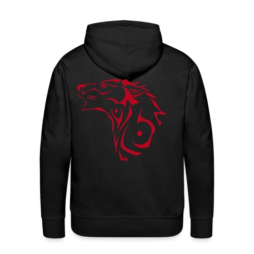 WarWolf tribal 1 - Sweat-shirt à capuche Premium pour hommes