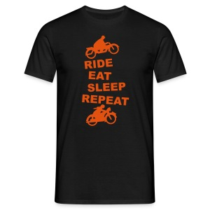 Ride Eat Sleep Repeat orange - Männer T-Shirt