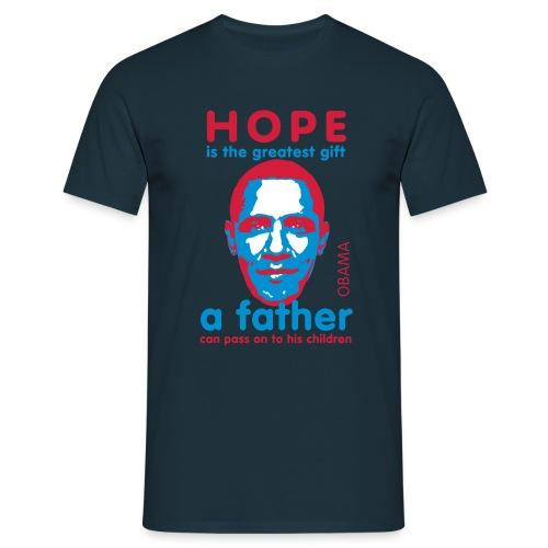 Shirt: Obama hope - Mannen T-shirt