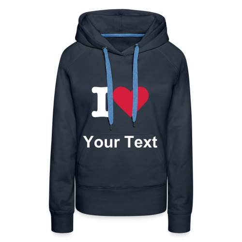 Women's Hooded Sweatshirt White Text - Women's Premium Hoodie