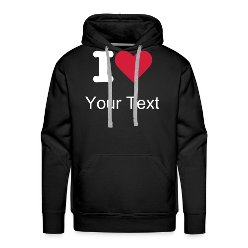 Mens Hoody White text - Men's Premium Hoodie