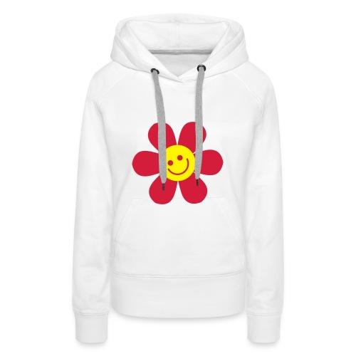 Smiley Flower Hoody - Women's Premium Hoodie