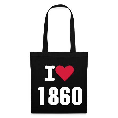 i love 1860 blanc/noir - Tote Bag